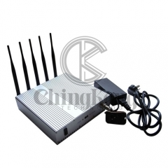 Desk 5bands Signal Jammer with Remote Control turn ON/OFF
