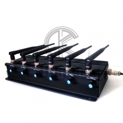 High Quality Mobile Phone Jammer 6 Antennas Adjustable with WIFI2.4G 5.8G or GPS,UHF VHF LOJACK