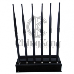 High Quality Mobile Phone Jammer 6 Antennas with WIFI2.4G 5.8G or GPS,Also Block...