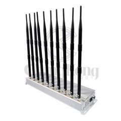 The Latest Indoor Using 10 antennas Mobile phone Signal Jammer For GSM 3G 4GLTE ...