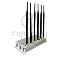 Low Price&Good Quality Mobile phone Signal Jammer with 6 Antennas GSM 3G 4GLTE signal Blocker WIFI2.4G Jammer