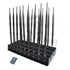World First 18 Antennas Wireless Signal Jammer Output Power 42Watt With Infrared...