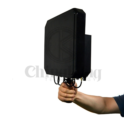 Handheld High Power Directional Drone UAV Signal Blocker(Build-in directional antennas)