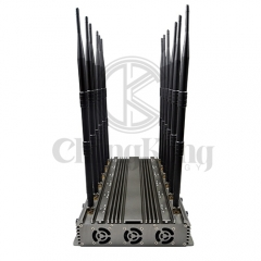 New powerful wireless signal jammer with 12 Antennas output power 70W jamming up to 60m Remote control Turu ON/OFF
