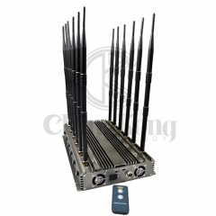 New powerful wireless signal jammer with 12 Antennas output power 70W jamming up...