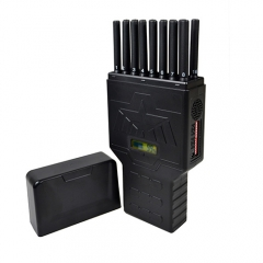World First Handheld 16 Bands Cell Phone Signal Jammer Hidden Antenna Blocking 4G Wi-Fi5G RF Signal Jammer ,12Watt Jamming up to 20m