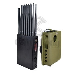 2020 The Latest Handheld 16 Bands Cell Phone Signal Jammer With Nylon Cover,Bloc...