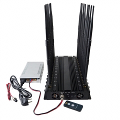 All-In-One 5G Mobile Phone Jammer With 22 Channel For Full Bands 5GLTE 2G 3G 4G Wi-Fi GPS LOJACK Output Power 42Watt Jamming Up To 40M