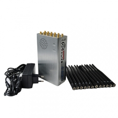 Handheld 5G Cellphone Jammer With 12 Bands, LOJACK GPS Wi-Fi RC Signal Blocker,Plus 8.4Watt Jamming up to 20m