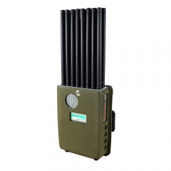 2021 Year The Latest Handheld 18 Bands 5G Cellphone Signal Jammer With Nylon Cover, Blocking 2G 3G 4G 5G Wi-Fi GPS UHF VHF,18Watt Jamming up to 25m