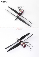 Free Shipping CR23M 1550KV Patented Product Contra-Rotating Motor with  Spinner and prop