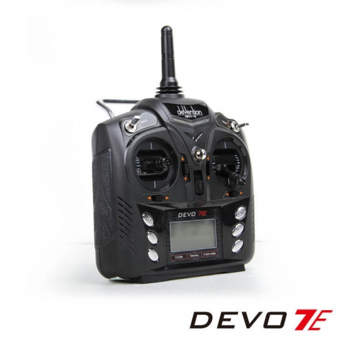 Free Shipping Walkera DEVO 7E 2.4G 7CH DSSS Radio Control Transmitter for RC Helicopter Airplane Model