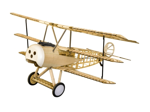 Free Shipping S18 Balsawood Airplane Scale 1540mm Fokker DR1 Plane DIY Aeroplane to Build RC Plane Model Radio Control Toy Hobby