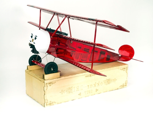 RC Balsawood Airplane Model  Fokker DRI ARF 770mm Wingspan Radio Control Scale plane Free shipping S17