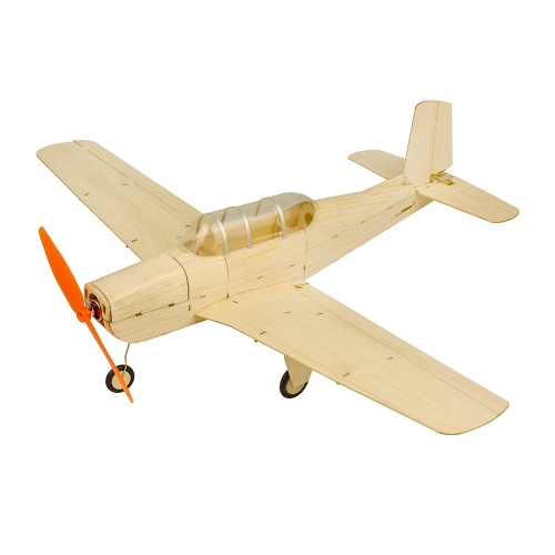 K13 Mini RC Balsawood Airplane KIT 470mm T-34 Free Shipping Beechcraft Airplane to build Dancing Wings Hobby Free Shipping