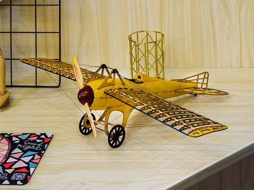 Free Shipping 3D Puzzles Static Wooden Model Display DIY1:13 Deperdussin Monocoque Aeroplane to Build Handicrafts,Collection,Furnishing Decoration