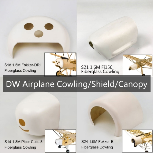DW Airplane ACC.  Cowling Shield Canopy For Balsawood Airplane