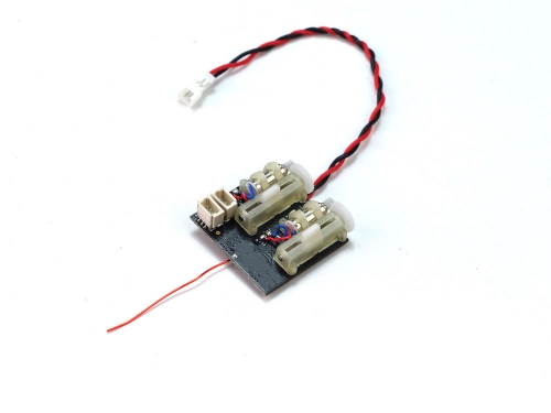 RX24    Mini RX 4CH Receiver Integrated 5A/1S Brushed ESC & 2Pcs Linear Servo for micro indoor airplanes