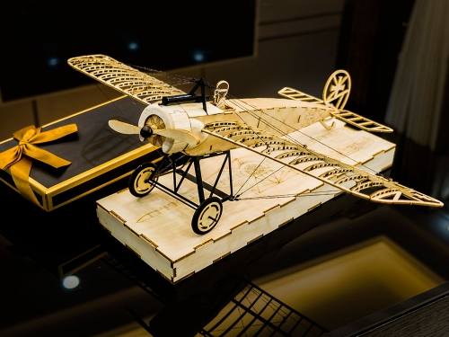 Free Shipping 3D Puzzles1:23 Fokker-EIII DIY Wooden Model Craft Handicrafts,Collection,Furnishing Decoration,Christmas Gift Aeroplane to Build
