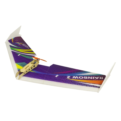 E06 Wingspan 1000mm Rainbow RC Flying Wing Radio Control Model Aircraft Fixed Wings Toy Hobby Aeroplane to Build Free Shipping