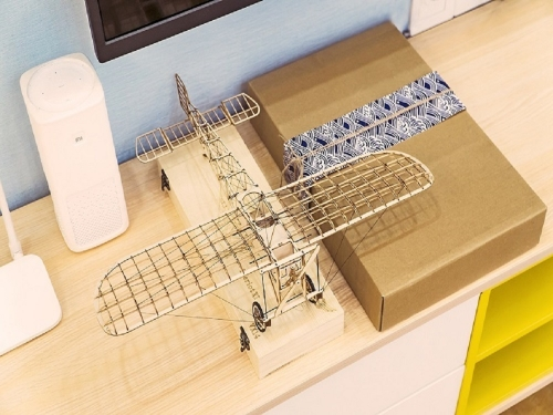 Free Shipping 3D Puzzles 1:23 Bleriot XI DIY Craft Static Wooden Model Display Mini Building Kits Handicrafts,Collection,Furnishing Decoration