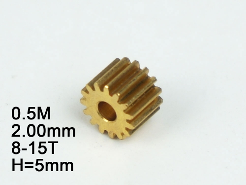 Free Shipping 5pcs/lot RC Model Metal Pinion Gear 0.5M 2.0mm(hole diameter) 8T/9T/10T/11T/12T/13T/14T/15T Height:5mm