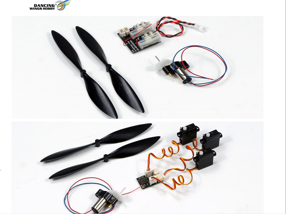 Free Shipping DIY Micro Brushed Power System with 7x16mm Brushed Motor/Micro Prop, and Micro Receivers for RC Micro Mini Indoor Airpalne Model
