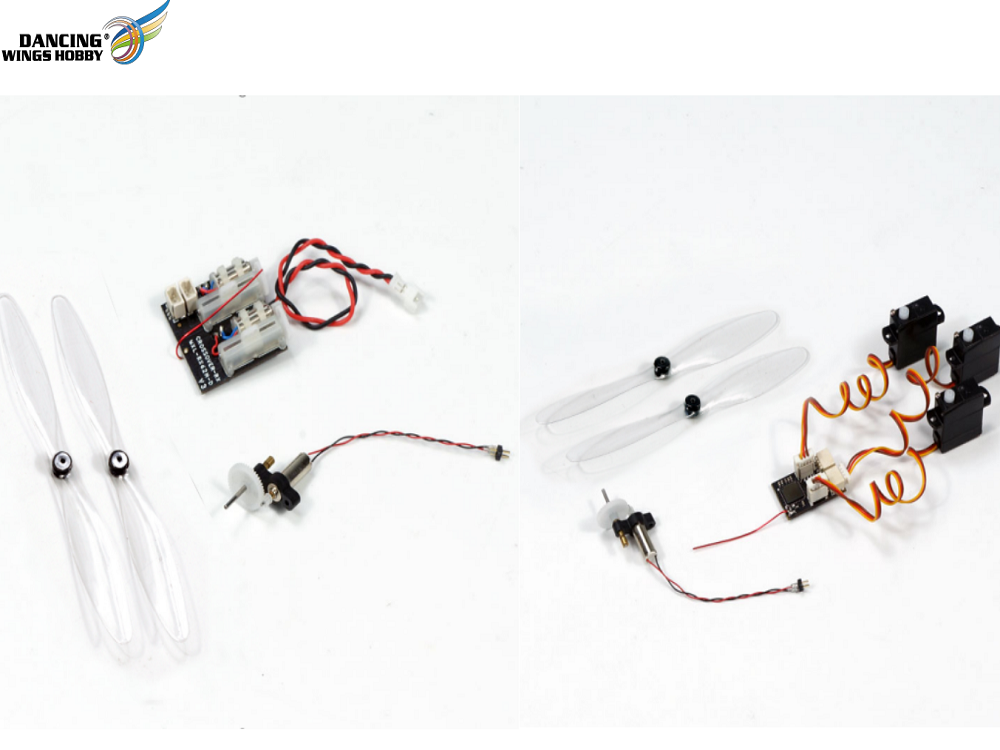 Free Shipping DIY Micro Brushed Power System with 4x12 Brushed Motor, Micro Prop, and Micro Receivers for RC Micro Mini Indoor Airpalne Model(BLPS)