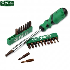 20 In 1 S2 material Screwdrivers Set With  Hex Slotted Phillips Torx trilateral Y-shaped U-shaped Screwdriver bits