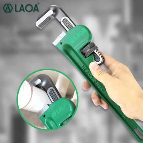 LAOA 2019 New Pipe Wrench Heavy Duty 8Inch 10Inch 14Inch Plumbing Cr-V Steel Anti-rust Anti-corrosion Manual Tools