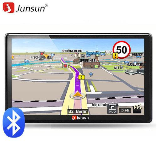 Junsun 7 inch HD Car GPS Navigation FM Bluetooth AVIN Map