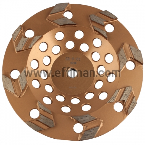 New Arrow Type Concrete Grinding diamond Cup Wheel