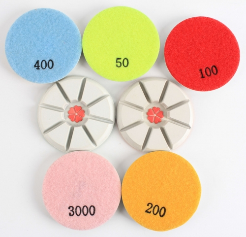3 inch diamond wet polishing pad for concrete/terrazzo floor