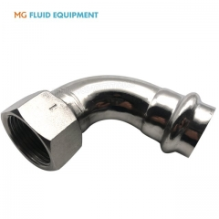 (V Press x Female)Press Fittings 90º Elbows With Female Thread Stainless Steel