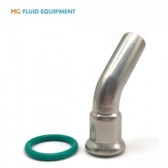 (M Press × Pipe Plain )Press Fit Fittings 45º  Elbow With Plain End Stainless Steel