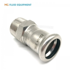 (M Press × Male)Press Fit Fittings Adapter With Male Thread Stainless Steel