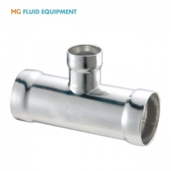 Sanitary socket welded reducer  TEE