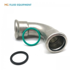 Press Fit Fittings Equal 90º  Bend Stainless Steel