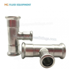 Press Fit tee reducer stainless SUS304 pipe fititngs