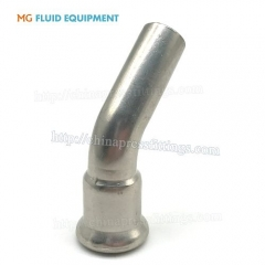 Press Fit Elbow 45 Degree With Plain End