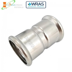(M Press × M Press)Press Fit Fittings Equal Coupling Stainless Steel