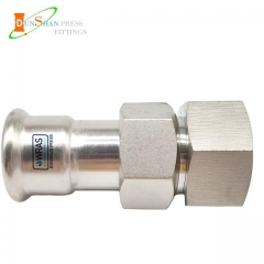 (M Press × Female)Press Fit Fittings Adapter Union Nut With Female Thread Stainless Steel