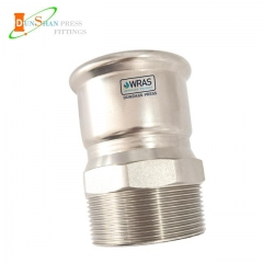 press fit adaptor with male threaded end SS316