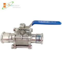 ball valve with press end