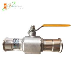 Press ball valve for water and gas