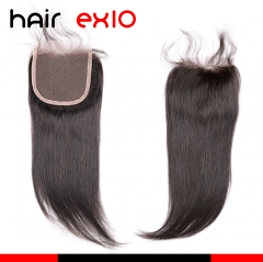 Brazilian Hair Products Virgin Hair Lace Top Closure(4X4) Natural Black Straight Closure