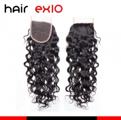 Water Wave Lace Closure Free/Three/Middle Part 10A Virgin Hair Water Wave Lace Closure 4x4 Human Hair Closures