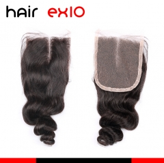 10A Grade Hair Products Virgin Hair Loose Wave Lace Closure Middle Part Free Part Lace Closure 4*4 8 to 20 inch