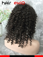 360 Lace Front Wig Density 130% Brazilian Virgin hair Deep wave Hair Unprocessed Virgin 360 Lace Front wig Human Hair Wig Virgin Hair For Black Women