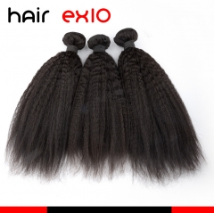 Brazilian hair 3pcs Human Hair Bundles 100g Kinky Straight 100% Unprocessed Human Hair Weaves Natural Color